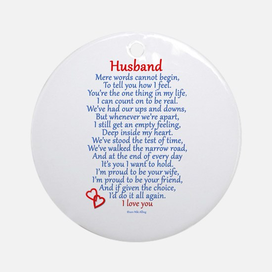 Husband Love Ornament (Round)