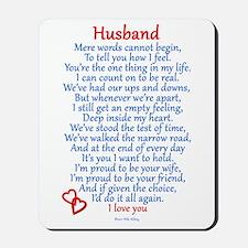 Husband Love Mousepad