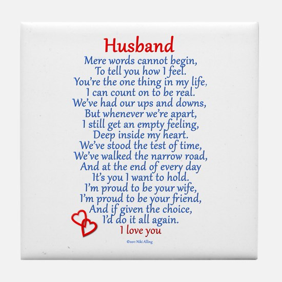 Husband Love Tile Coaster