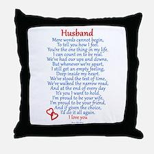 Husband Love Throw Pillow
