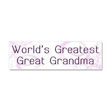 World's Greatest Great Grandma Car Magnet 10 x 3