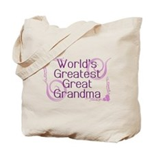 World's Greatest Great Grandma Tote Bag