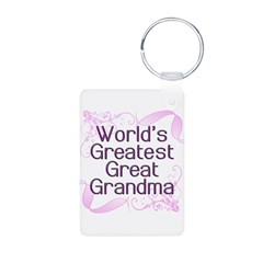 World's Greatest Great Grandma Keychains