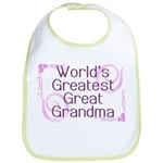 World's Greatest Great Grandma Bib