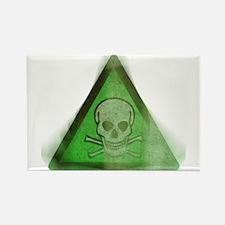 Green Grunge Poison Sign Rectangle Magnet
