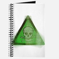 Green Grunge Poison Sign Journal