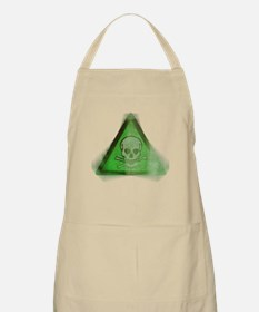 Green Grunge Poison Sign Apron