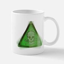 Green Grunge Poison Sign Mug