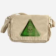 Green Grunge Poison Sign Messenger Bag