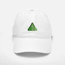 Green Grunge Poison Sign Baseball Baseball Cap