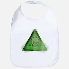Green Grunge Poison Sign Bib