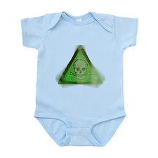 Green Grunge Poison Sign Infant Bodysuit