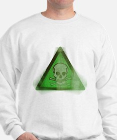 Green Grunge Poison Sign Sweatshirt