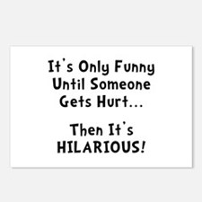 Funny Hurts Postcards (Package of 8)
