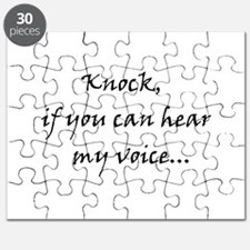 Knock if you can hear my voice Puzzle