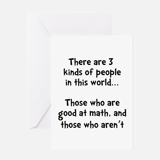 Math People Greeting Card
