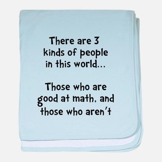 Math People baby blanket