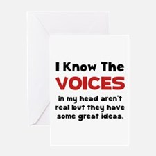 Voices In Head Greeting Card