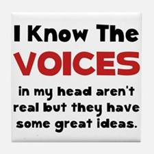 Voices In Head Tile Coaster