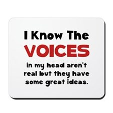 Voices In Head Mousepad