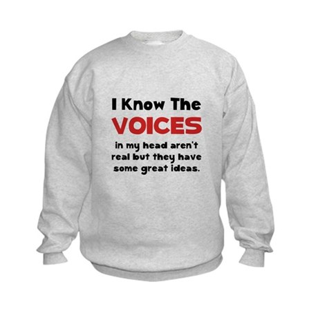 Voices In Head Kids Sweatshirt
