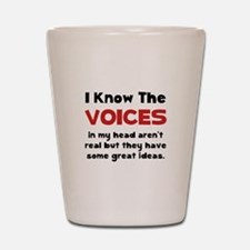 Voices In Head Shot Glass