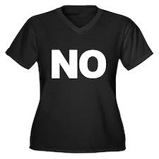 No Means No Women's Plus Size V-Neck Dark T-Shirt