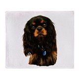 Dog breeds cavalier king charles spaniel black and Fleece Blankets