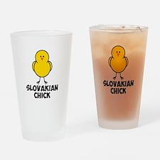 Slovakian Chick Drinking Glass