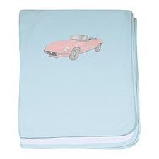 Jaguar XKE 1972 baby blanket