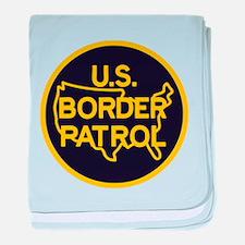 Border Patrol baby blanket