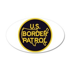 Border Patrol 22x14 Oval Wall Peel