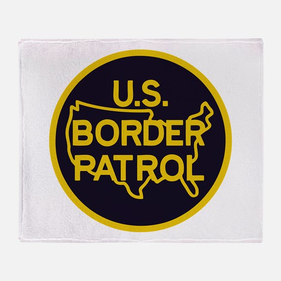 Border Patrol Throw Blanket