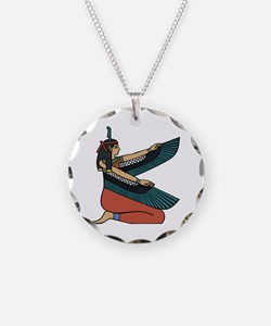 Egyptian Goddess Maat Necklace