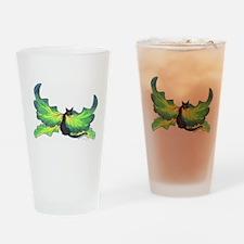 Green Fairy Cat Drinking Glass
