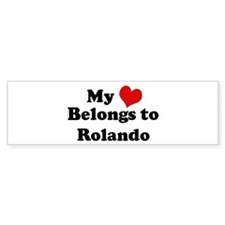My Heart: Rolando Bumper Bumper Sticker