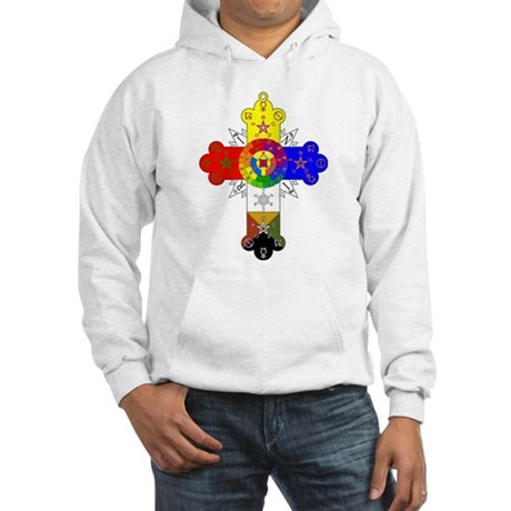 Rose Cross Hooded Sweatshirt