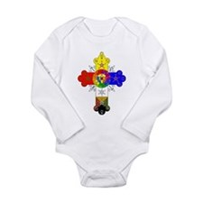 Rose Cross Long Sleeve Infant Bodysuit