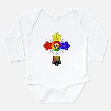 Rose Cross Long Sleeve Infant Bodysuit