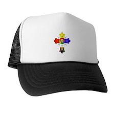 Rose Cross Trucker Hat
