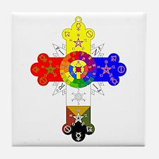 Rose Cross Tile Coaster
