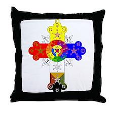 Rose Cross Throw Pillow