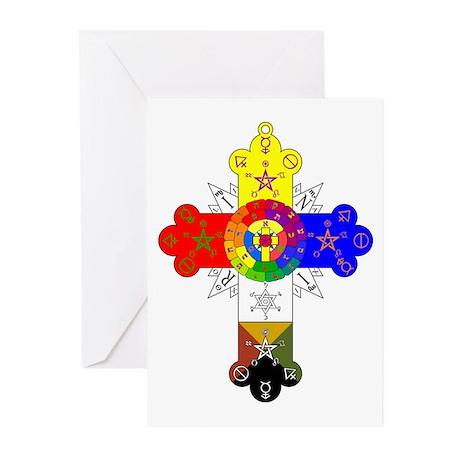 Rose Cross Greeting Cards (Pk of 10)