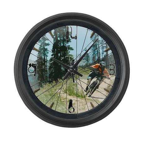 Large Mountain Bike Wall Clock