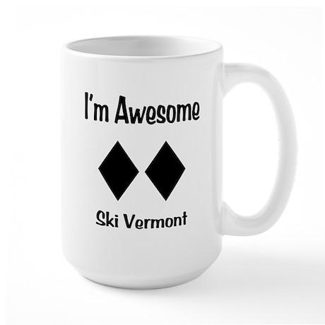 I'm Awesome Ski Vermont Large Mug