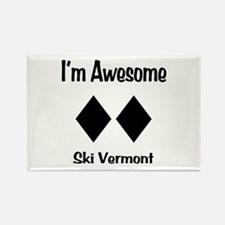 I'm Awesome Ski Vermont Rectangle Magnet