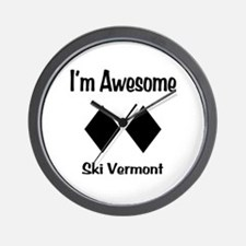 I'm Awesome Ski Vermont Wall Clock