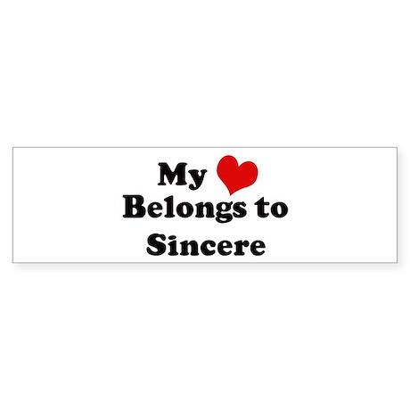 My Heart: Sincere Bumper Sticker