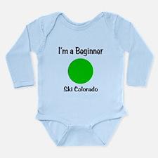 Beginner Ski Colorado Long Sleeve Infant Bodysuit