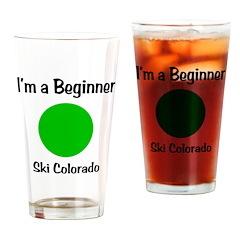 Beginner Ski Colorado Drinking Glass